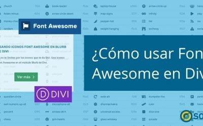¿Cómo usar Font Awesome en Divi?