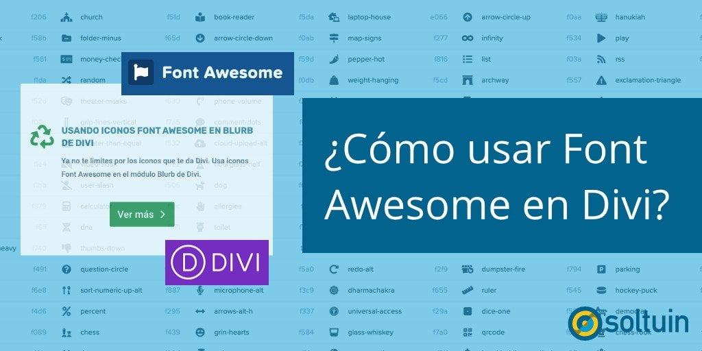 Como usar Font Awesome en Divi